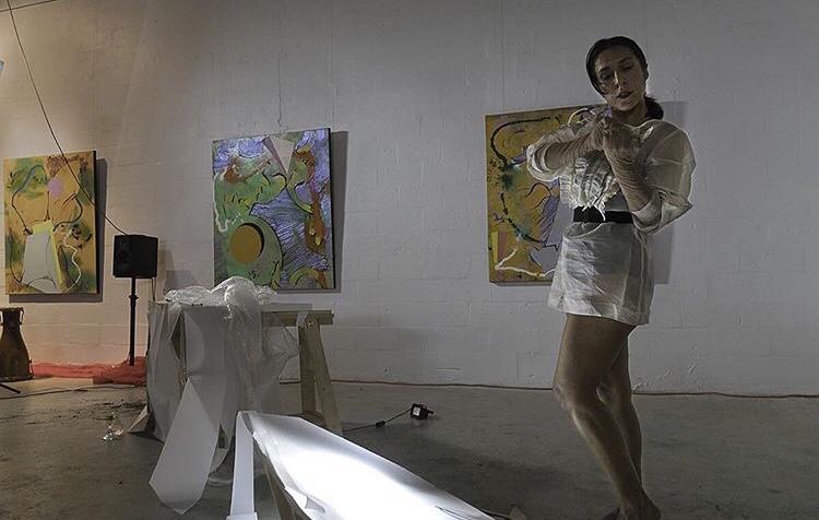 #woman  Choreography/Peformance: Roxana Barba  Music: Melissa Yverson  Video installation: Sophia Cabral, Sofia del Rivero