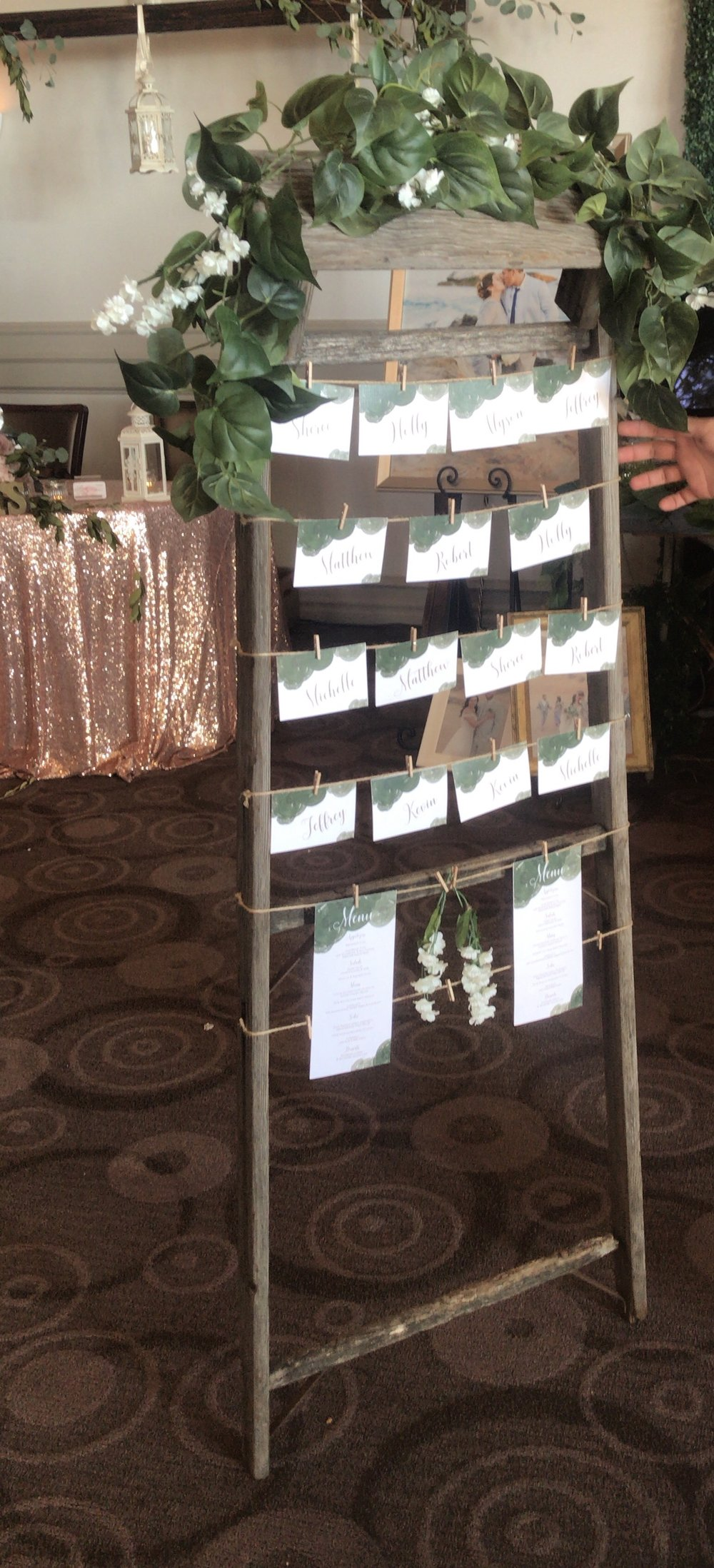 Vintage Seating Chart Ladder * Does not include guest tags