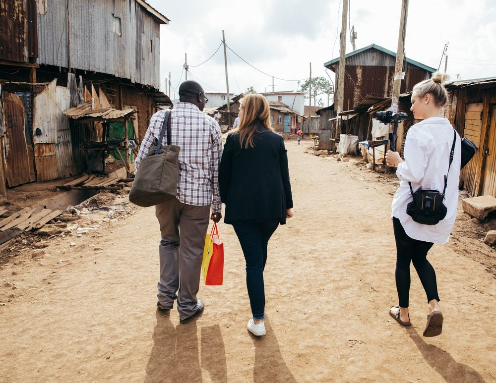 Filming in the Kibera Slum on Day 1