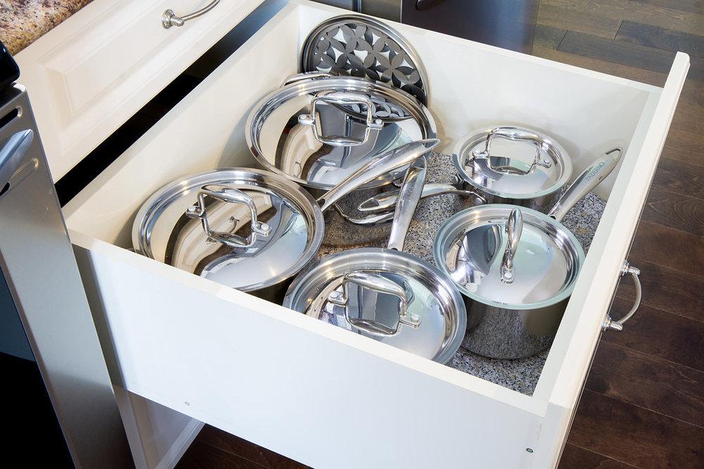 Reachable Pot Storage Drawers