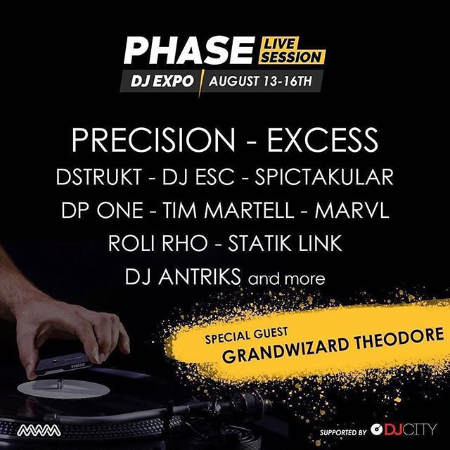Regrann from @djdpone -  #Repost @skratcherny ・・・ Looking forward to this coming week at the upcoming Dj Expo in AC!! Super hyped to see @phase_dj in action, only the best to test!! #Repost ・・・ DJ Expo is in 3 days, announcing the beginning of #PhaseLiveSession 🔥 Better be ready for this crazy line-up we've prepared! See you on our Facebook and Instagram pages next Monday for insane lives. And for the lucky ones who'll be at the DJ Expo, we'll se you there, booth #609 . . . @noisicerp @excessbeats @djdstrukt  @___esc___ @djspictakular @djdpone  @djtimmartell @djmarvl @djrolirho @statiklink @antriks @therealgrandwizzardtheodore . #Phase #phaseproject #djexpo #turntablism #live #session - #regrann