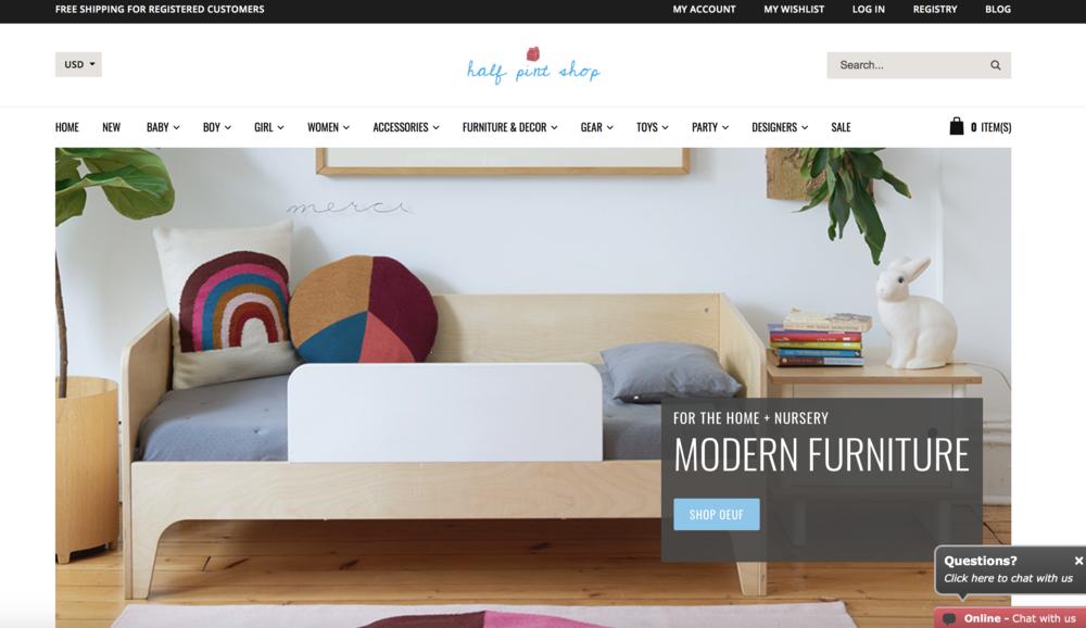 half pint shop - e-commerce website