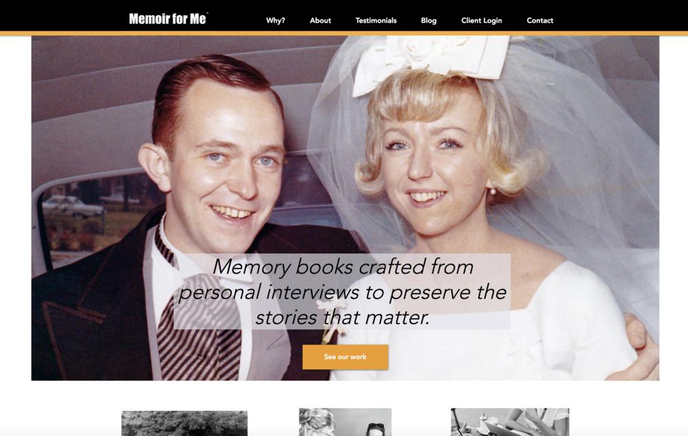 memoir for me - website redesign