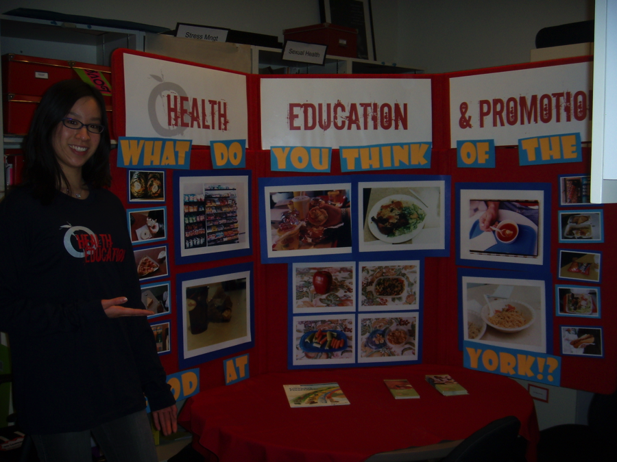 """Figure 1 Michelle's first nutrition & art project: """"What Students Eat"""" in 2008"""