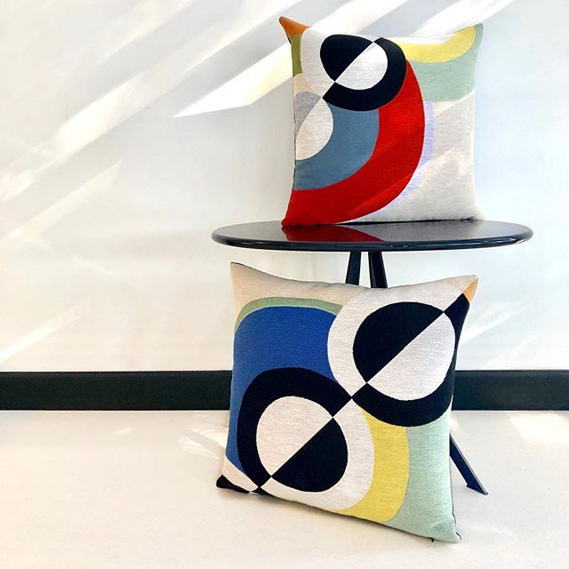 """colour harmonies play in the late afternoon light in our Sydney showroom today... """"Rythmes"""" (detail) Robert Delaunay 1934... TISSERANDS des FLANDRES  striking jacquard cushions to be seen at the Centre Georges Pompidou, Paris & Life InStyle @life_instyle Sydney 21-24 February. . . . . . . #australiandistributor  #frenchdesigncollection  #lifeinstyle  #lifestylesydney2019 #centregeorgespompidou  #frenchdesign #frenchhomewares #artistcushions #artcushions #robertdelaunay #frenchstyle #parisstyle #interiordesign #interiorarchitecture #artanddesign  #contemporarydesign #interiorstyle #interiordecorating #frenchlifestyle #frenchinspiration #frenchhomewares #designideas #jacquardcushions #madeinflanders #atelierdesign #frenchdesignstore"""