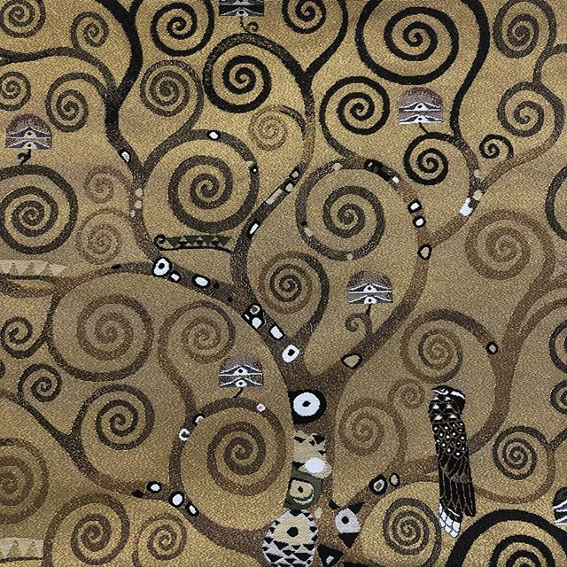 Gustav Klimt's Tree of Life (1909) from his  mosaic panels in the Palais Stoclet, Brussels available in beige, gold & black cotton jacquard cushions, tapestry, table runners & more designs of this motif and detail of Klimt artworks: |The Kiss (1908) | Portrait of Adele Bloch-Bauer (1907) | The Three Ages of Woman (1905) | Expectation (1909) | Fulfilment ((1905) | Farm Garden with Sunflowers (1913)| ... see TISSERANDS des FLANDRES Collection 2019  LIFE INSTYLE - Stand 1864 21 -24 February 2018 Royal Hall of Industries Moore Park in Sydney. . . . . . #australiandistributor  #frenchdesigncollection  #frenchhomewares #interiorstyle #frenchhome #frenchdesign #frenchstyle #francestyle #parisstyle #interiordesign #contemporarydesign #interiorstyle #interiordecorating #interiorarchitecture #frenchlifestyle #frenchinspiration #homedecor  #homedecoration  #designdecor #designideas #jacquardcushions #artistcushions  #artcushions #madeinflanders #frenchjacquard