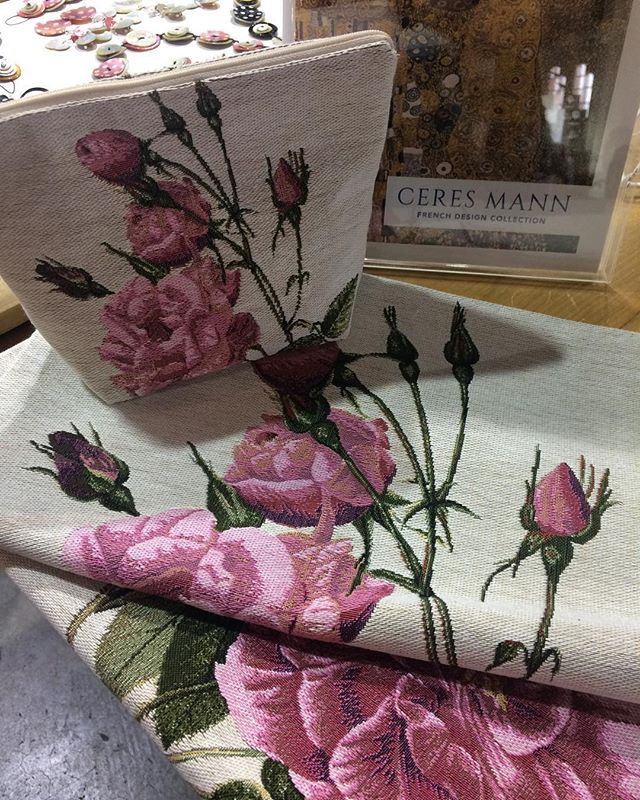 Day 2 Life InStyle: Stand 1864. Just arrived last night from TISSERANDS des FLANDRES France! Summer garden roses | pink & yellow| 'trousse' purses... also French poppies, blue birds and... Peter Rabbit. Matching cushions, door rolls and more, until 6pm today until Sunday 24 February. . . . . @life_instyle  #countrystyleloves  #australiandistributor  #frenchdesigncollection  #frenchhomewares #interiorstyle #frenchstyle #parisstyle #interiordesign #interiorstyle #interiordecorating #frenchlifestyle #frenchinspiration #homedecor  #homedecoration  #designdecor #jacquardcushion #madeinflanders #frenchjacquard