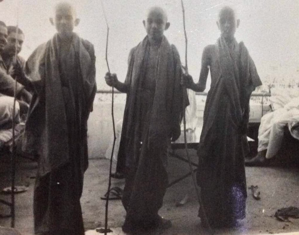 My father at his thread ceremony, on the right