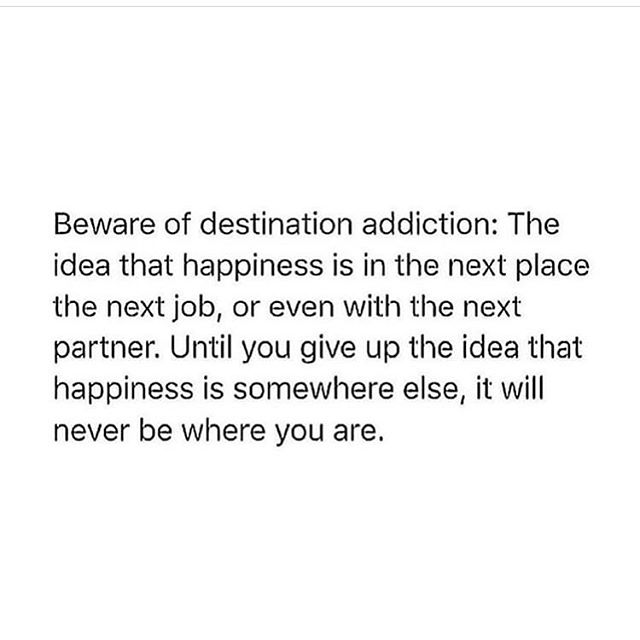 """Oh my gosh. Yes yes yes @prestonsmiles !!!! I have had this and it's something that I think a lot of people suffer with !! The """"I will be happy when"""" disorder.....well if you ain't happy today you ain't gonna manifest your happy tomorrow. Focus on the present and be grateful for anything you can grab onto. The air in your lungs. Then fact you can walk. The birds in the trees. Food on the table. Happiness is here, now if you grab it with both hands. For the record if you don't feel like grabbing happiness with both hands today that is also ok we can't be happy constantly. We aren't dogs 🐶 x #destinationaddiction #goals #happinessquotes #stopwaiting #happy"""