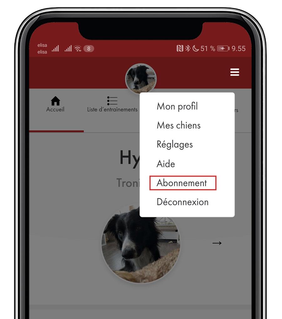 Obtenir AgiNotes Premium - 1. Continuer sur l'application (app.aginotes.com).2. Cliquer sur le menu dans le coin en haut à droite.3. Choisir