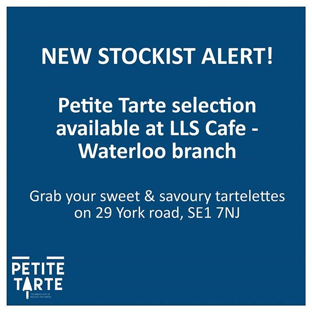 Run to the lovely grab & go  @llscafe just off Waterloo station! Sweet and savoury tartelettes from Petite Tarte available there from tomorrow! . . . #llscafe #waterloo #grabandgo #stockist #tartelettes #handmade #madewithlove #tartes #tarts #quiche #tartelettes #tartlet #delicious #foodconcept #londonfoodie #foodie #foodfeed #foodstagram #sunday #pastry #savourypastry #cheflife