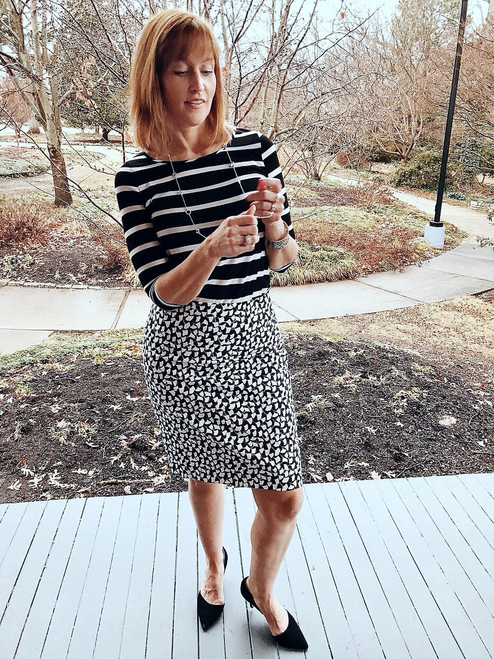 I love the crisp simplicity of black and white stripes, and they work with any pattern...