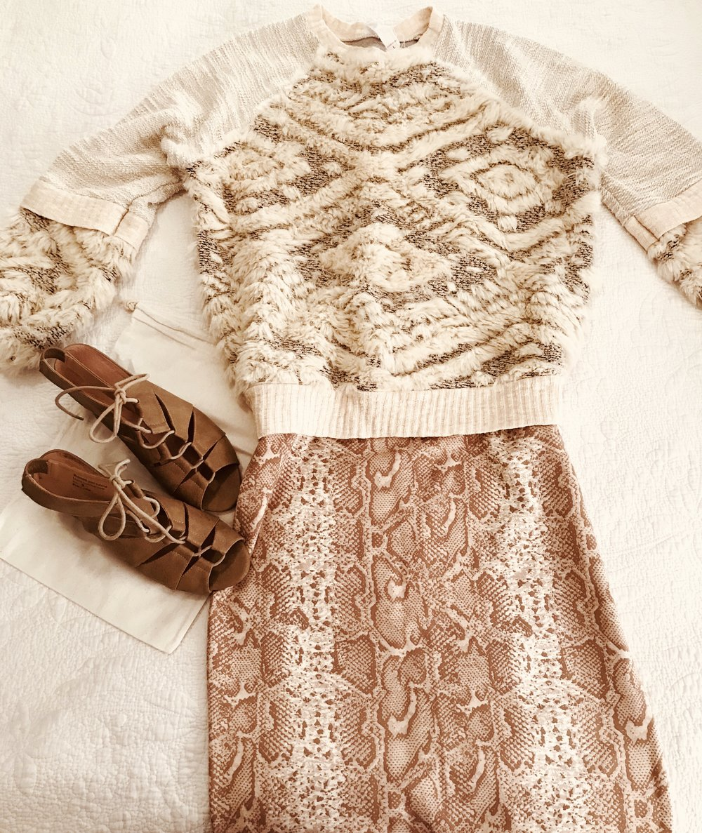 """An outfit idea stored to my iPhone for a morning when I'm shopping my closet for something """"new""""!"""