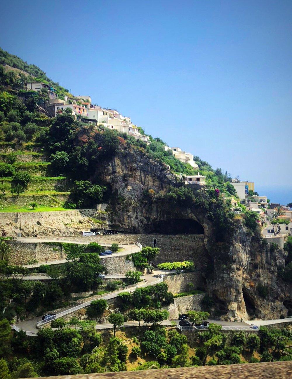A typical road on the Amalfi Coast - minus traffic