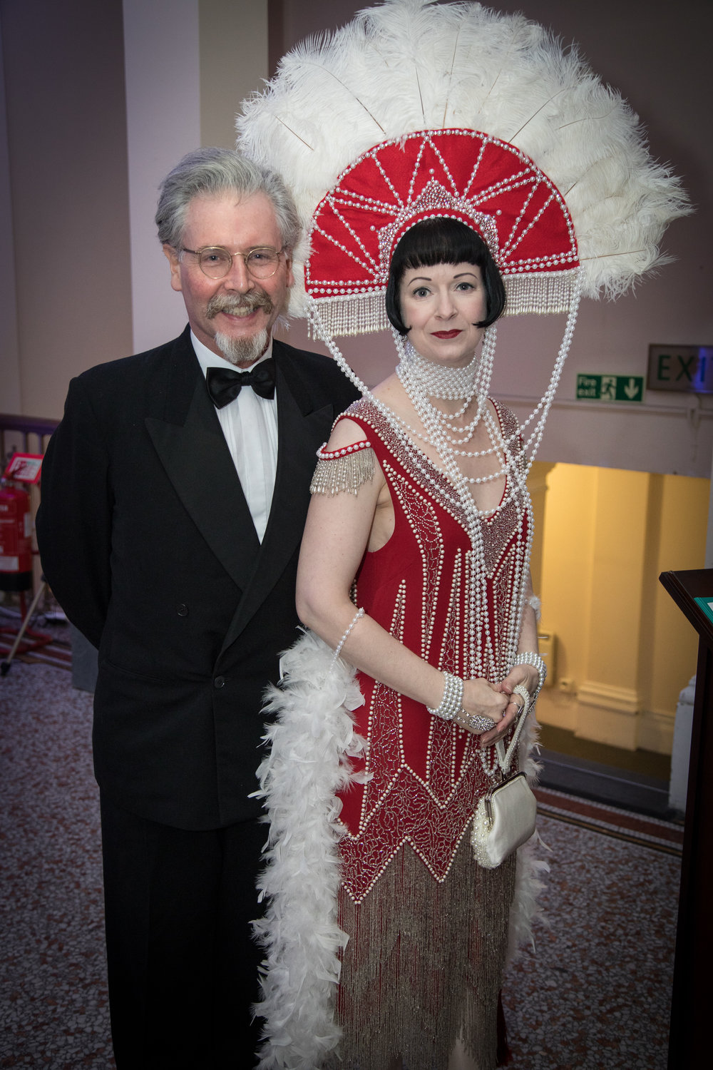 Couple in Art Deco costume