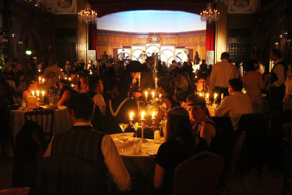 Candlelit ballroom at the Candlelight Club