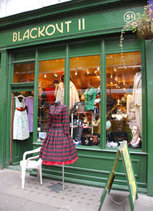 blackout ii - This Aladdin's Cave is crammed with original ladies' fashions from the 1920s to the 1980s, plus costume jewellery, hats, bags, lingerie and shoes, and menswear from the 1940s on, including a good range of ties and cravats. They are offering a 10% discount upon production of any valid Candlelight Club ticket.51 Endell Street, Covent Garden, London WC2H 9AJ