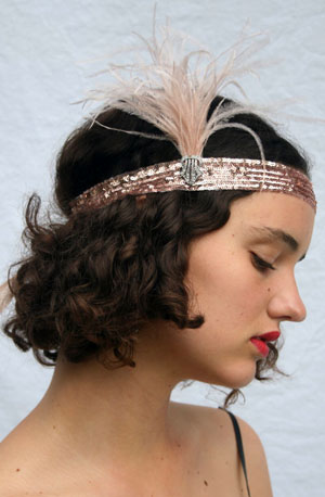 gotham city style - An online shop on Etsy selling 1920s-style headbands and fascinators—they have over 1000 styles to choose from. Even though they are based in San Francisco, postage to the UK is very reasonable.