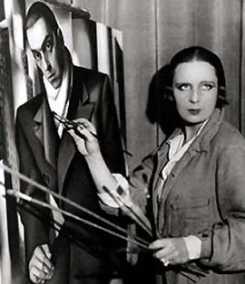- Tamara de Lempicka working on a portrait of her husband Tadeusz