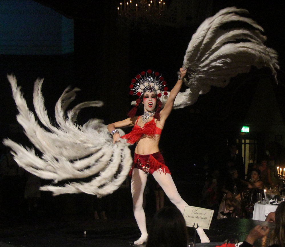 Suri Sumatra's Halloween burlesque routine
