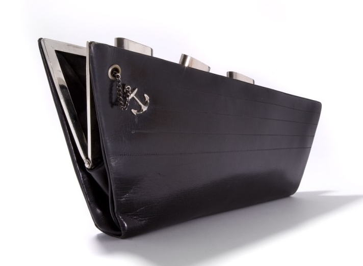 - The special Normandie clutch bag, complete with funnels and anchor, that was a free gift to First Class passengers on the ship's maiden voyage