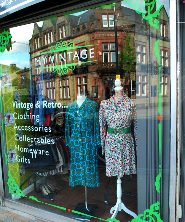 MY VINTAGE - Both a physical shop (in Darwen, Lancashire) and thriving online emporium, this family-run business offers a wide range of women's vintage clothing,designer vintage,50s clothing,indie clothing, vintage accessories, vintage costume jewellery, vintage collectables and vintage homeware. But we don't stop there. We also stock a wide a varied range of alternative clothing, brand new reproduction pieces including accessories, jewellery,retro clothing,fifties styleand vintage style rockabilly dressesfrom names such as Hell Bunny, Collectif, Banned and more.