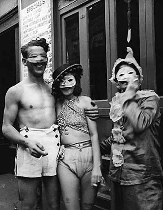 1937 revellers, snapped by Eudora Welty