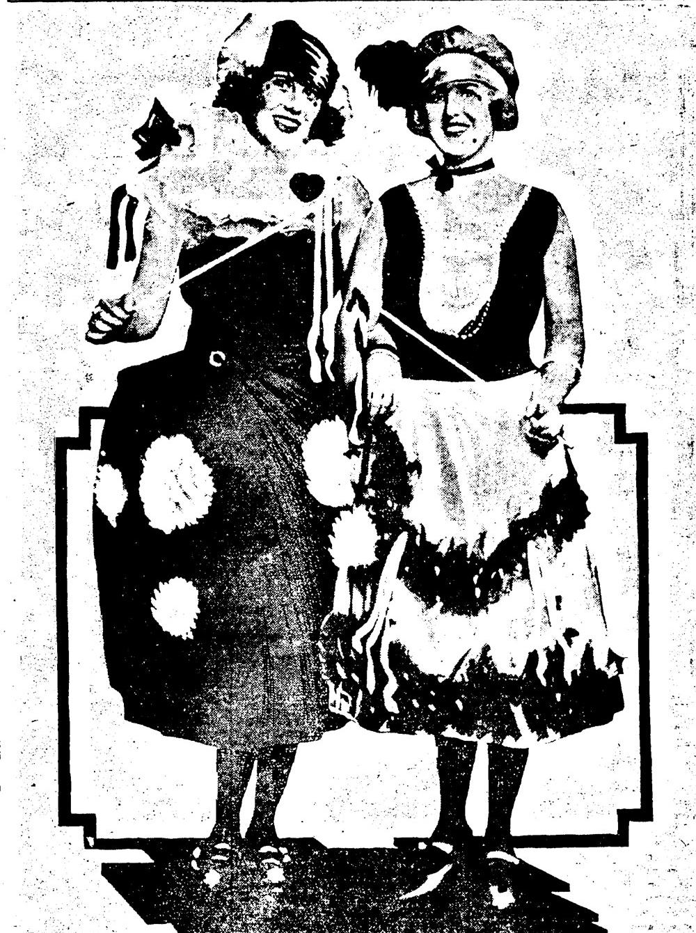 Debutantes at the Mardi Gras Ball, 1922