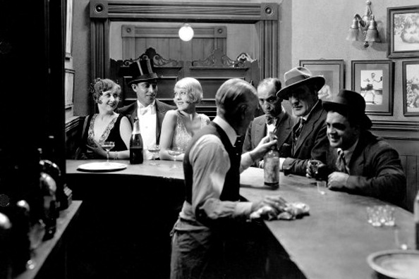 - In the cosmopolitan world of the speakeasy it became socially acceptable for women to drink in public. (Photo is a still from the 1928 film Dressed to Kill.)