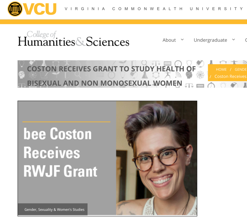VCU Professor Receives Grant to Study Health of Bisexual and Non Monosexual Women -