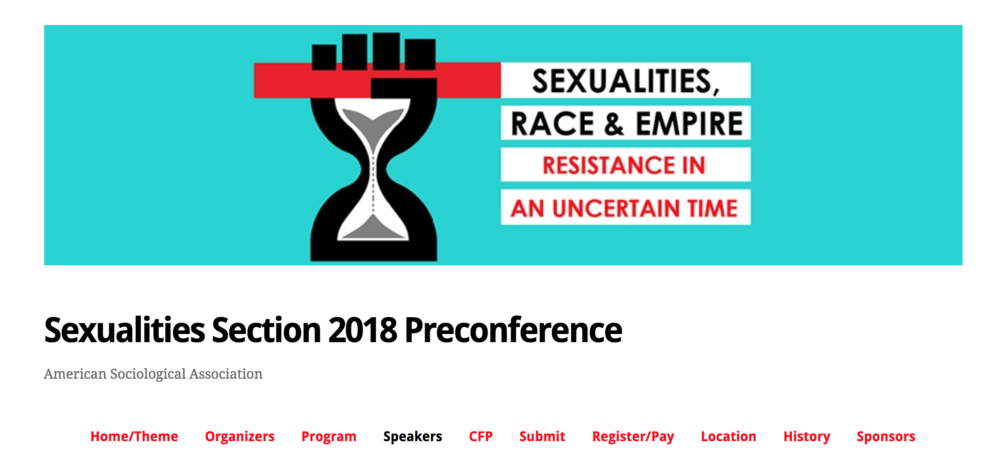 Methodologies in Sexualities Studies - For more information about the conference, including the plenary I'll be speaking in, click the image to the left.