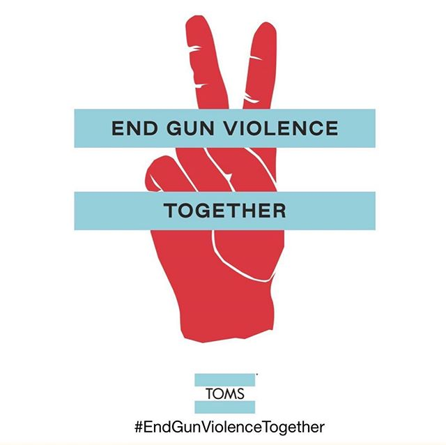 Challenge proudly accepted, @thubbmusic •• Let's #EndGunViolenceTogether - go to TOMS.com to send