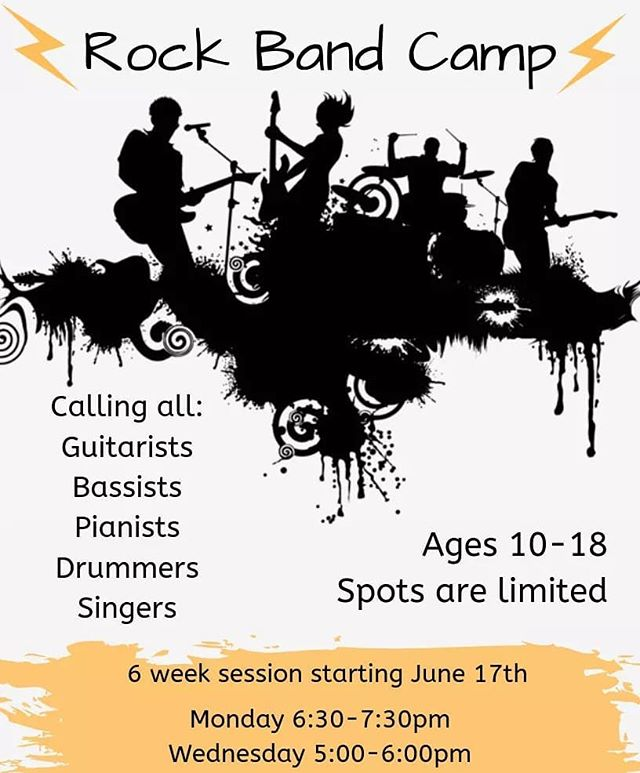 We're excited to announce we are having a Rock Band Camp this Summer! Students will get the chance to use their talents and learn how to play together in a band setting. Spots are limited! Register today by phone or email lesliedome@bellsouth.net! . . .  #northlakeacademyofmusic #music #musicschool #musiclessons #guitar #piano #voice #drums #bass #band #studentband #rockandroll #kidsactivities #summer #summercamp #bandcamp #sttammany #mandevillela #covingtonla #sing #musicacademy