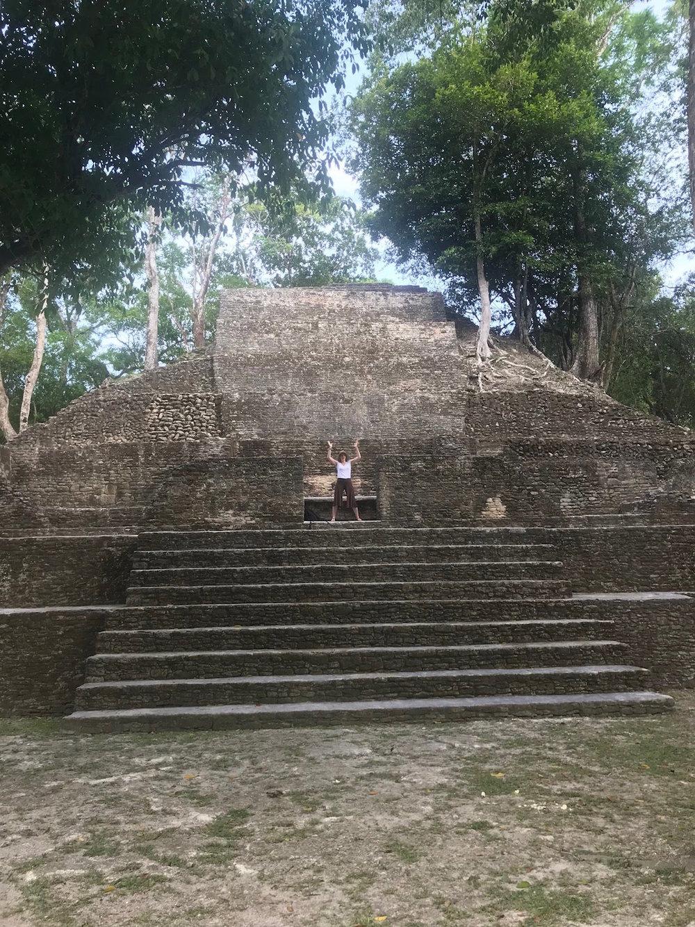 Walk like a… Mayan? in Cahal Pech
