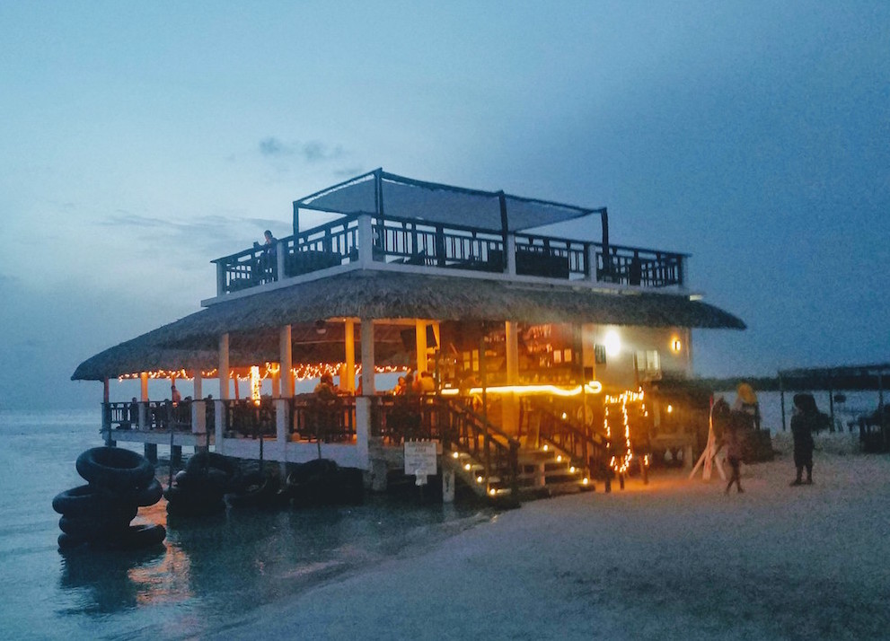 Koko King bar and restaurant in the evening