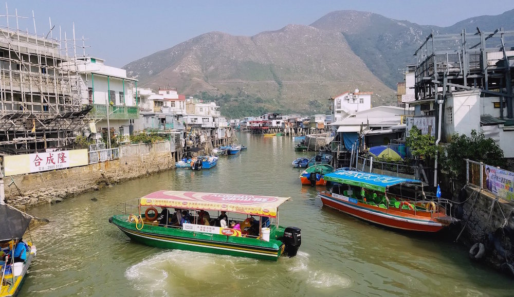 One of the crowded canals with boat tours
