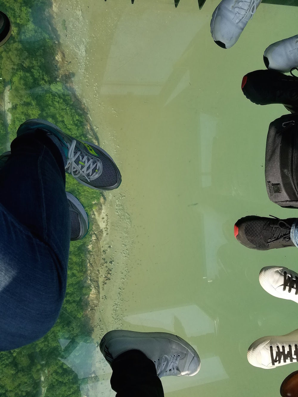 The view down below….