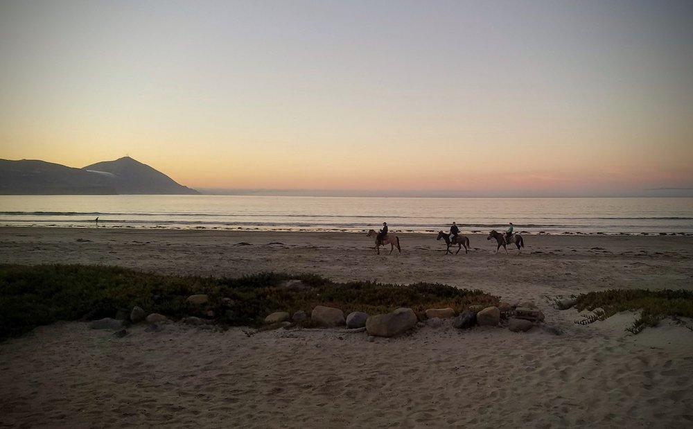 Sunset views on the beach south of Ensenada