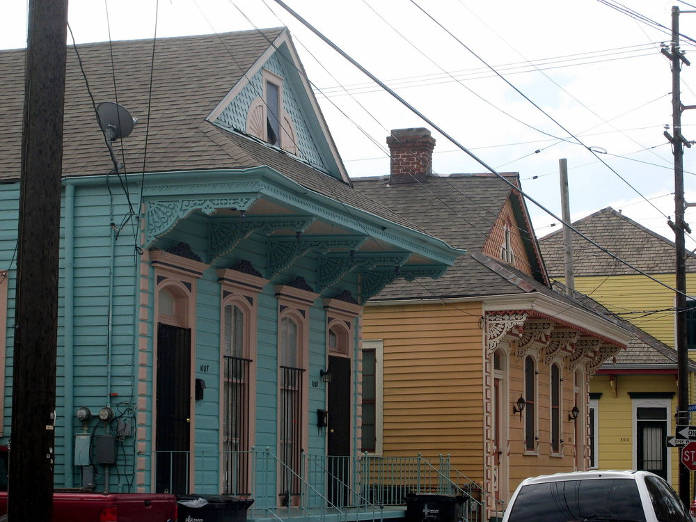 Shotgun houses in Bywater, photo courtesy of Peter Fitzgerald