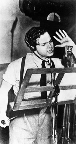 Orson Welles records H.G. Wells  War of the Worlds  at CBS. A small town would never the same again.