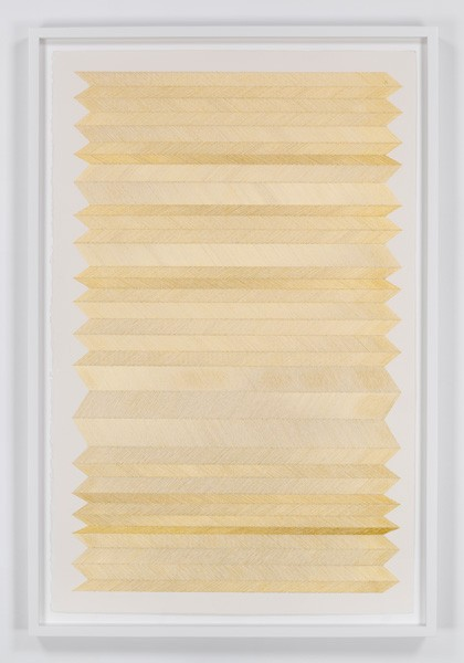 untitled, 2014  18 K gold thread on paper 40 1/4 x 26 in. unframed 43 3/4 x 29 in. framed