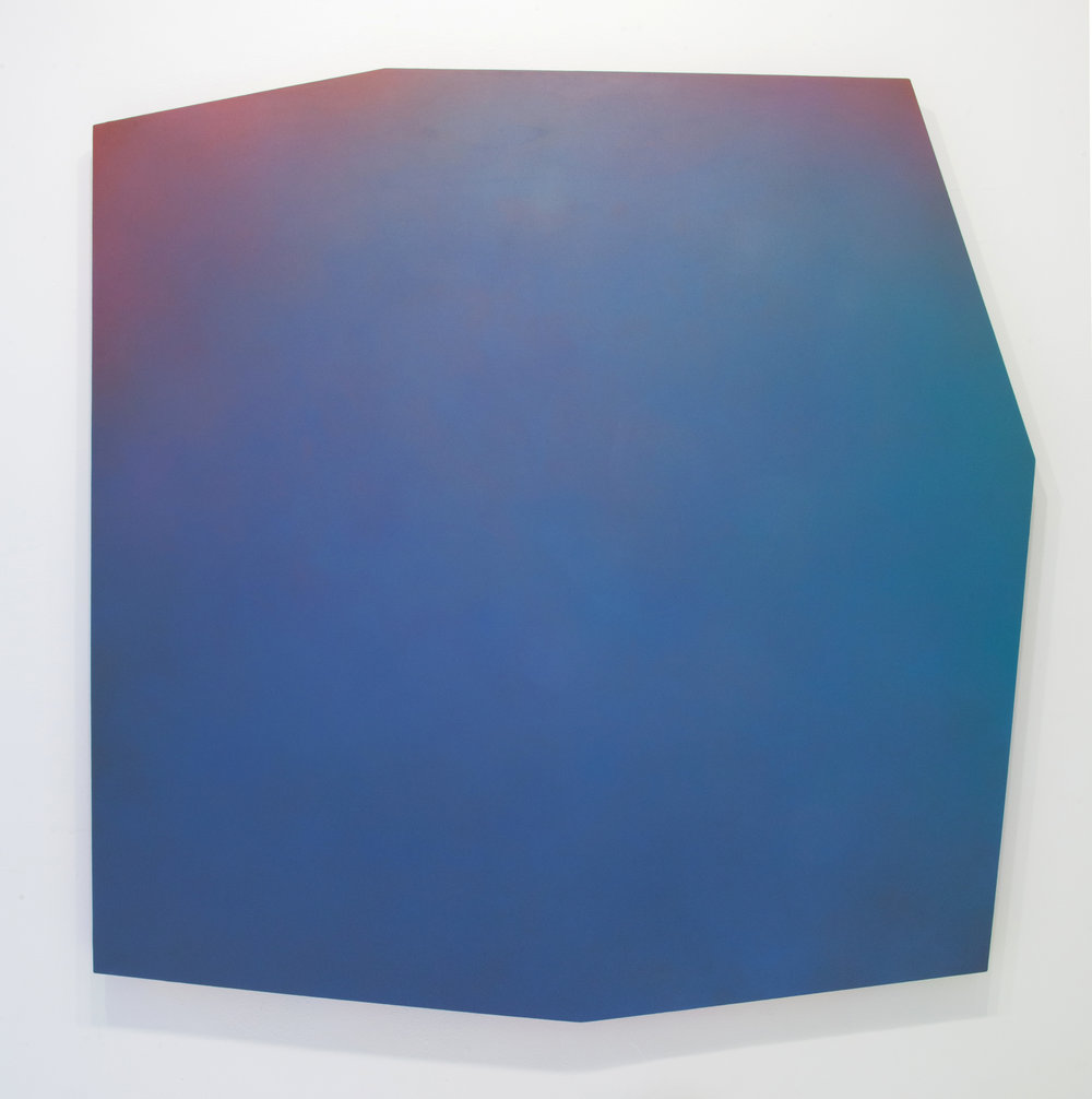Counterpart Sevens 5 A , 2018 Paint on shaped canvas Approx. 54 x 54 inches