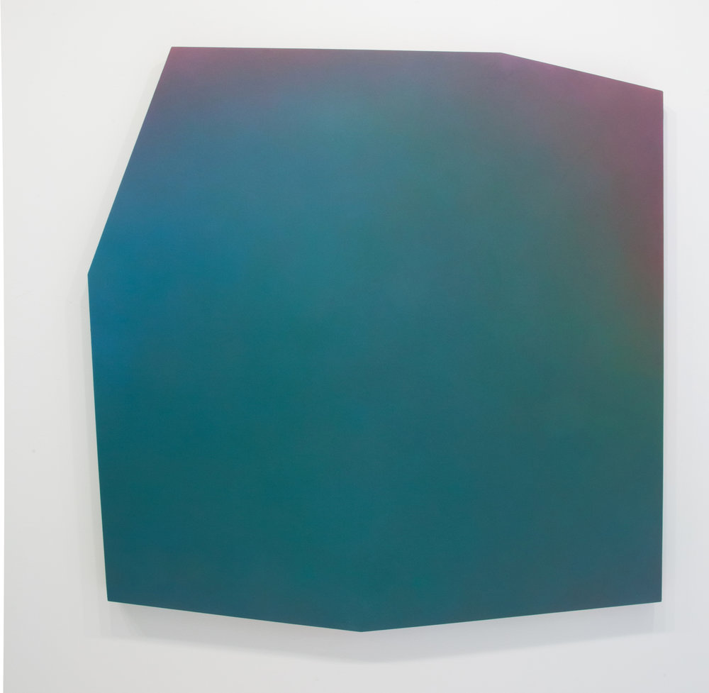Counterpart Sevens 5 B , 2018 Paint on shaped canvas Approx. 51 x 51 inches