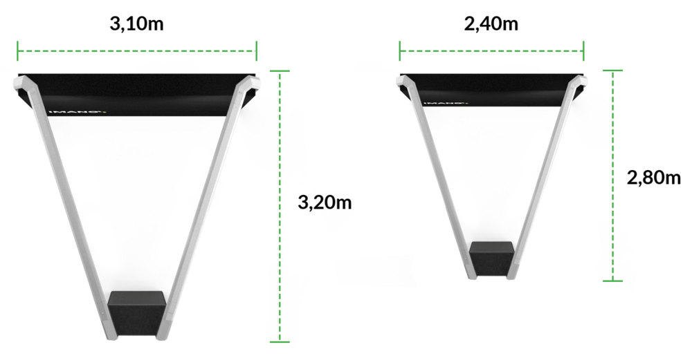 Draufsicht // Produktvarianten (v.l.) FX.one und FX.mini