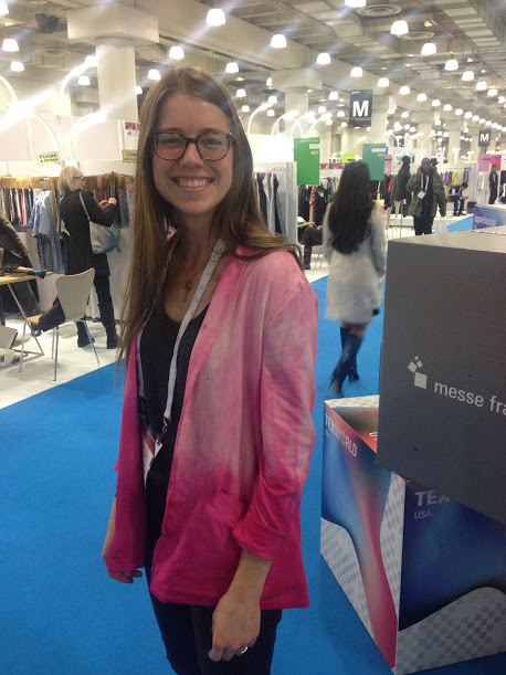Repping the first version of the kimono blazer at a fashion trade show in New York City. We were originally going to dip-dye all the blazers, until I realized that dyeing was super time-consuming and stressful for me (plus, I could never get the color I actually wanted). I'm a little bit embarrassed about it now, but hey, we gotta start somewhere, right? Shirt beneath the blazer is an  Everlane  tee. Plus  The Giving Keys  necklace.