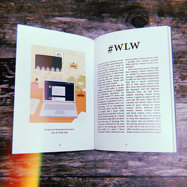 @elizabethlovatt talks about #wlw (women loving women) in #tokenmagazine Issue 3 and why fanfic was so important to her 💕  There are still copies of Issue 3 left — get your copy in the link in our bio! All orders will be sent 2nd Jan 💫  Artwork by @simi_abe