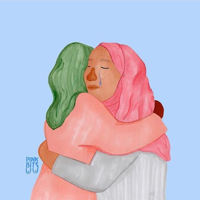 Sending support and love to Muslim communities and everyone affected by the New Zealand terrorist attack ❤️ so senseless and heartbreaking 😞 🎨 by @pink_bits