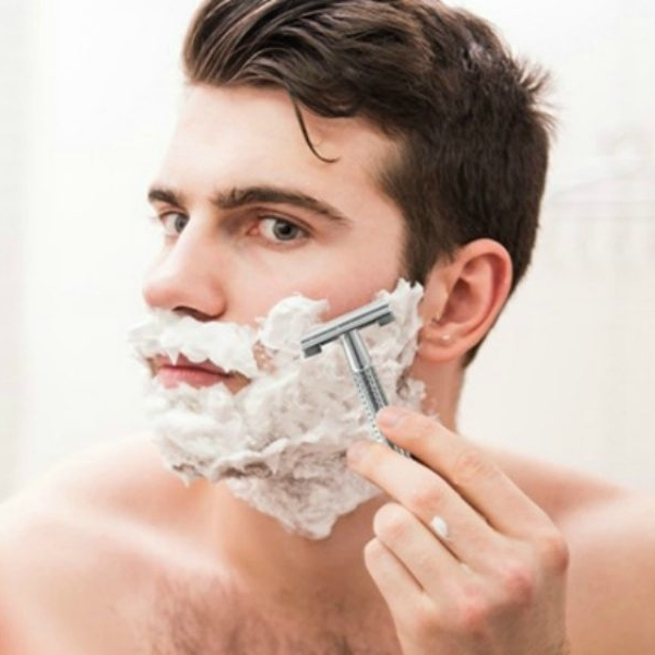 Shaving  breaks down his skin's natural ability to replenish itself