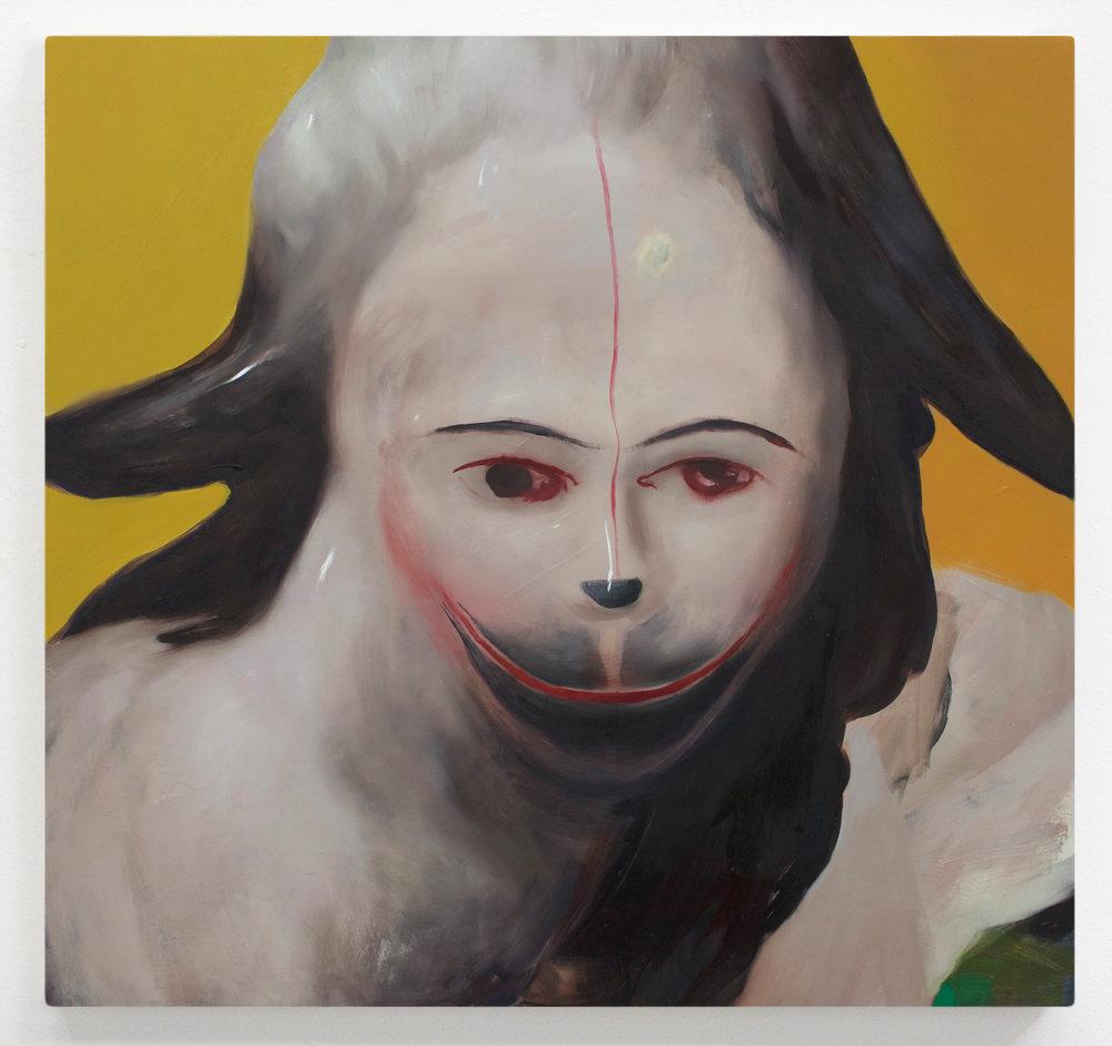 "simper  30"" x 31"" Oil on Wood, 2016"