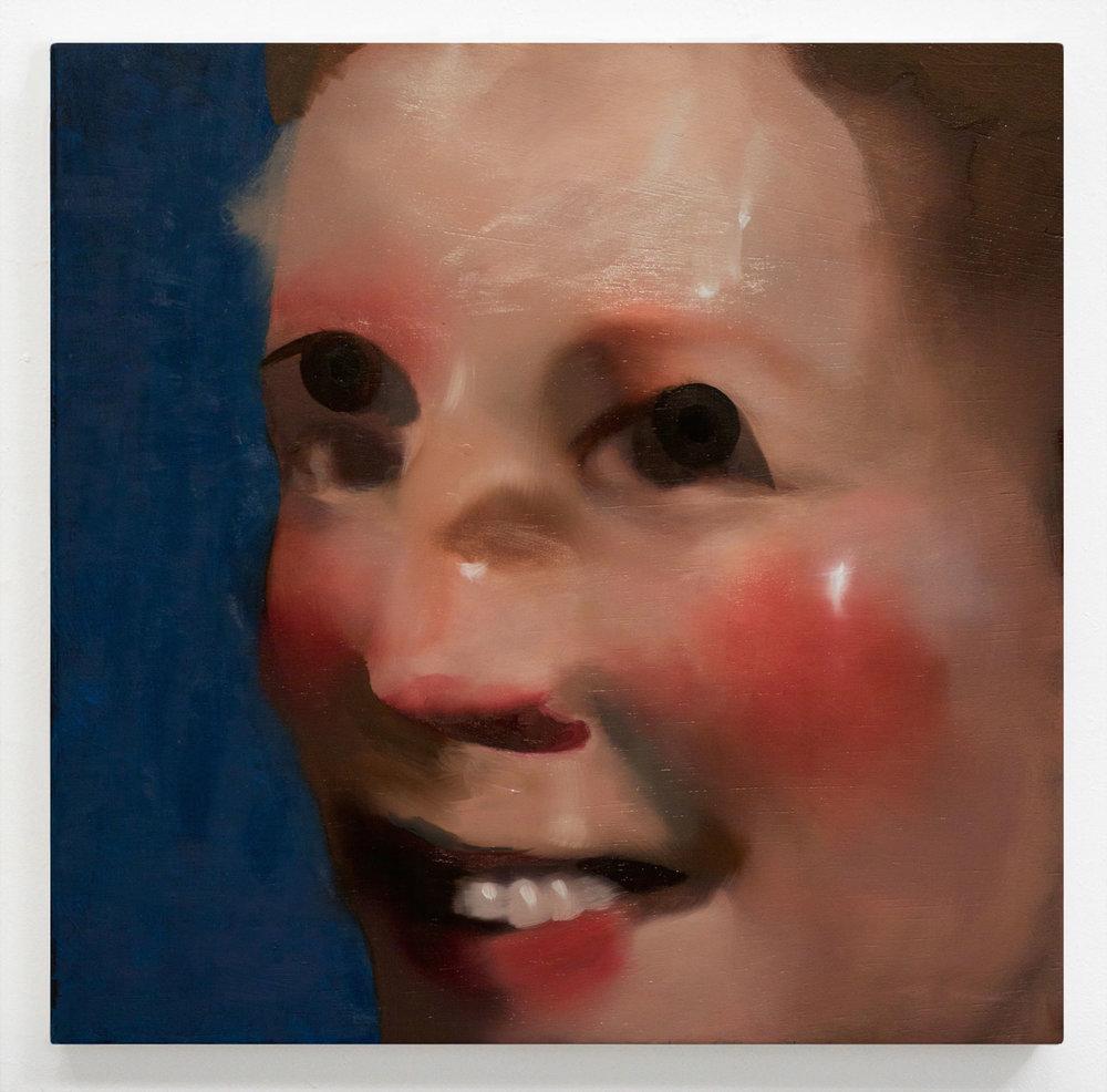 "an apple bright   18"" x 18"" Oil on Wood, 2016"